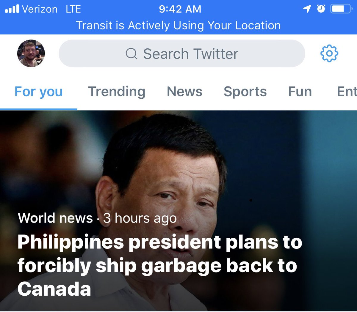 That's actually pretty mild for a leader whose portfolio includes extrajudicial killings of suspected drug dealers/users.<br>http://pic.twitter.com/L84Tdkxr36
