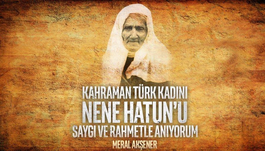 93 Harbi sırasında Erzurum'da Aziziye savunmasına katılmış, düşman işgaline karşı Millî Mücadelemizin simgesi hâline gelmiş Kahraman Türk kadını #NeneHatun anamızı, vefatının 64. yılında saygı ve rahmetle anıyorum.