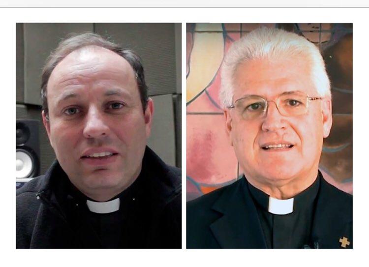 Excelente noticia para la @iglesiachile! El Papa ha nombrado a los sacerdotes Alberto Lorenzelli, inspector de los Salesianos y a Carlos Irarrázaval, ex director de radio María y párroco de El Bosque, como obispos auxiliares de la diócesis Santiago. A rezar mucho por ellos, éxito