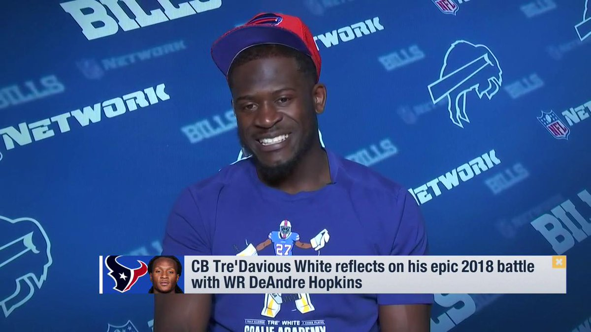 For the first 4 weeks straight he had like 150 yards so I came out and told him that wasnt happening today. @BuffaloBills CB @TreWhite16 reflected on his epic 2018 battle with @HoustonTexans WR @DeAndreHopkins.