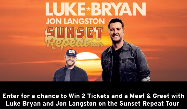 #GiveawayAlert: Enter to win 2 tickets and a meet and greet with Luke & @JonTLangston on the #SunsetRepeatTour! http://tnspk.co/u-a1Tag