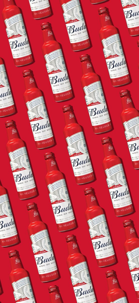 For this #WallpaperWednesday, we're giving you some more of that pure Bud Love to smile at every time you open your phone—this time in bottles. Sized for iPhone X and iPhone XR. #ThisBudsForYou