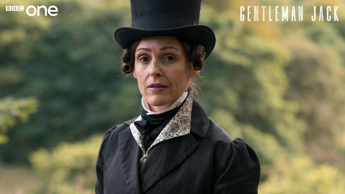 """""""She's unusual and singular and clever. She doesn't conform to the way people think a woman should look, or think, or be.""""  Suranne Jones is Anne Lister in #GentlemanJack. 🎩"""