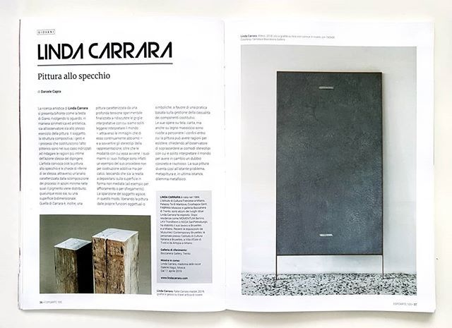 I wrote a small #essay about #LindaCarrara's practice on #Espoarte. The artist decomposes #painting and asks it to explain itself. @linda.carrara @espoarte @boccanera_gallery #ArtMagazine #ContemporaryArt #ContemporaryPainting https://t.co/5k72F8gH9o