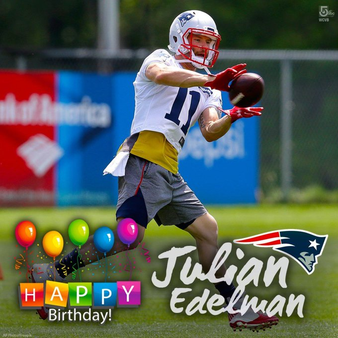 Happy 33rd Birthday to Patriots wide receiver Julian Edelman. It s been ahell