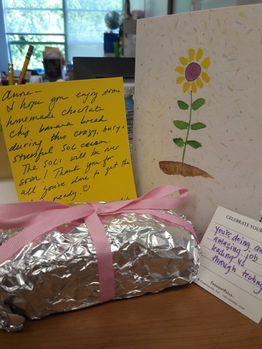 Blown away by all the good wishes and treats during SOL testing season ❤ thanks <a target='_blank' href='http://twitter.com/meekim16'>@meekim16</a> <a target='_blank' href='http://twitter.com/MrsSillKinder1'>@MrsSillKinder1</a> <a target='_blank' href='http://twitter.com/MsKyleK1'>@MsKyleK1</a> <a target='_blank' href='http://twitter.com/msdrabyk'>@msdrabyk</a> <a target='_blank' href='http://twitter.com/MsSullivan_APS'>@MsSullivan_APS</a> and the whole PreK, K and gr 1 team! <a target='_blank' href='https://t.co/FyVsD5aoid'>https://t.co/FyVsD5aoid</a>