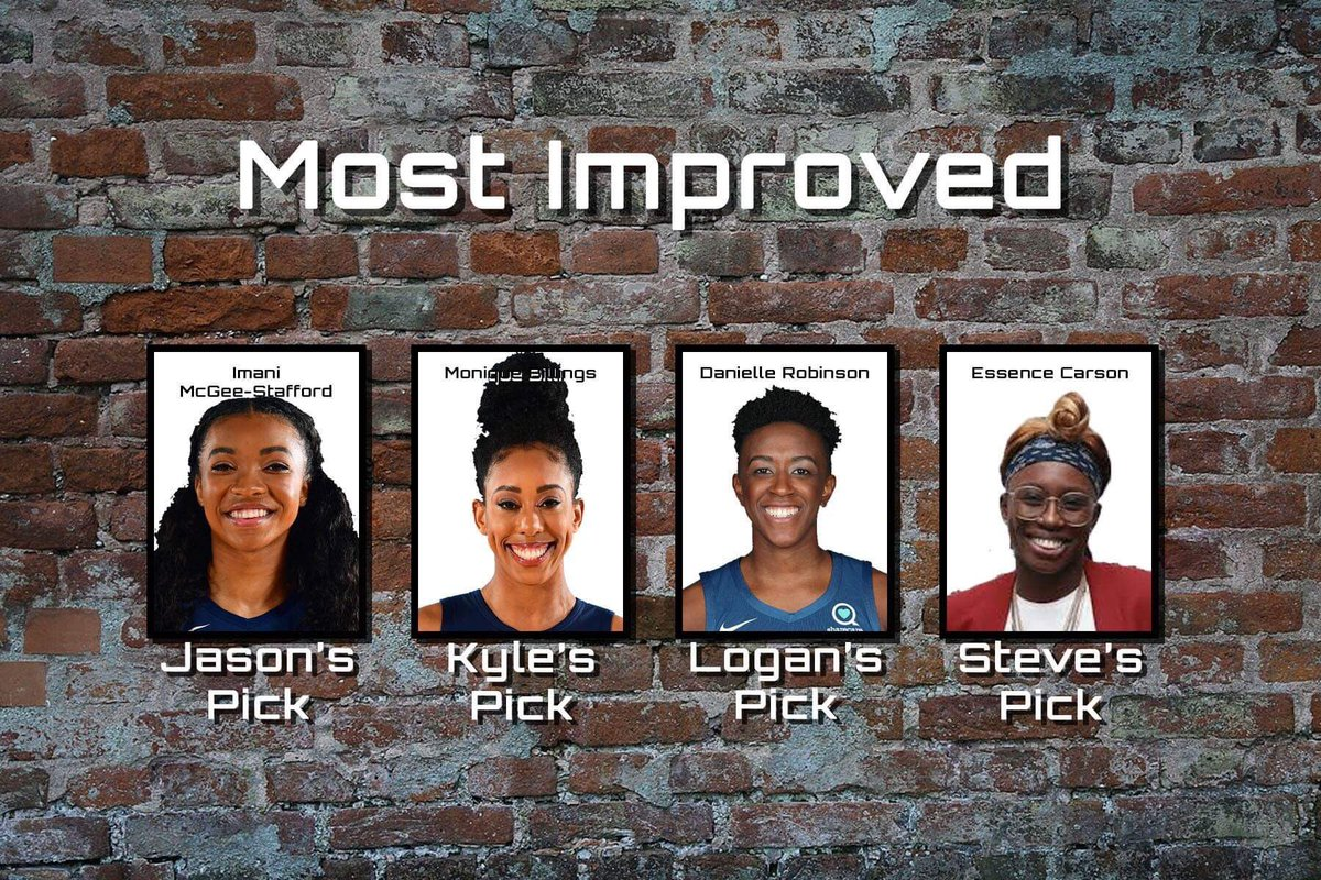 This is always a tough pick to make with so many moving parts in the league, but here are our picks for Most Improved Player.  Who do you have winning this award for the 2019 #WNBA season?