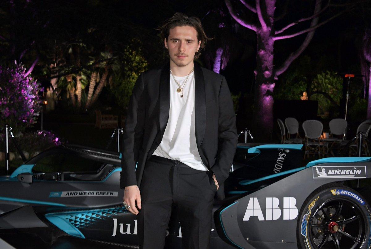 Warming up #Cannes2019 with @PixieLott @brooklynbeckham @DUALIPA & Orlando Bloom ahead of the #AndWeGoGreen screening tomorrow #ABBFormulaE