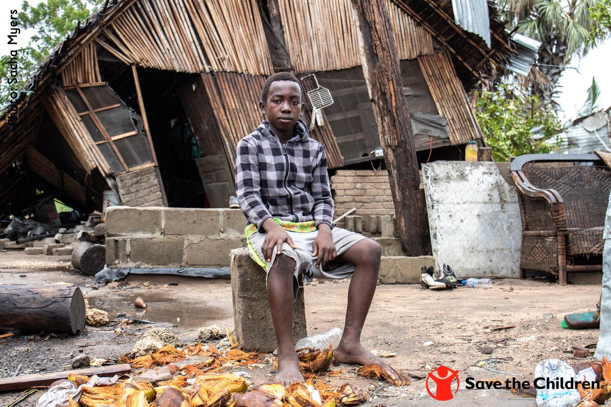 .@SavetheChildren is still on the ground in #Mozambique providing assistance to children like Renaldo who lost everything after two historic cylcones devastated the already vulnerable country.  Help us help