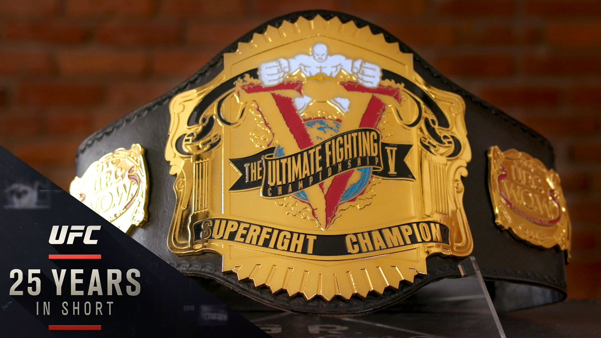 """First introduced in 1995, @UFC championship belts have become the sport's ultimate accessory. This is its surprising history.  """"ULTIMATE ACCESSORY: The Story of the UFC Championship Belt"""" is now streaming on YouTube and http://UFC.com here ⬇️:   https://www.ufc.com/video/ultimate-accessory-story-ufc-championship-belt…"""