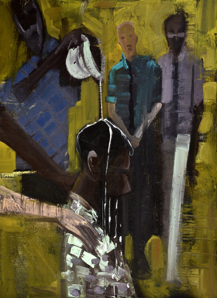 Psalm 133 by Kyle Ragsdale -  'Like precious oil poured on the head' #retrospect #apaintingeveryday #art #HolyWeek #DivinityArrived #soulfulart #Lent #GoodFriday #HolySaturday #Easter #artofredemption #HeIsRisen #Psalm