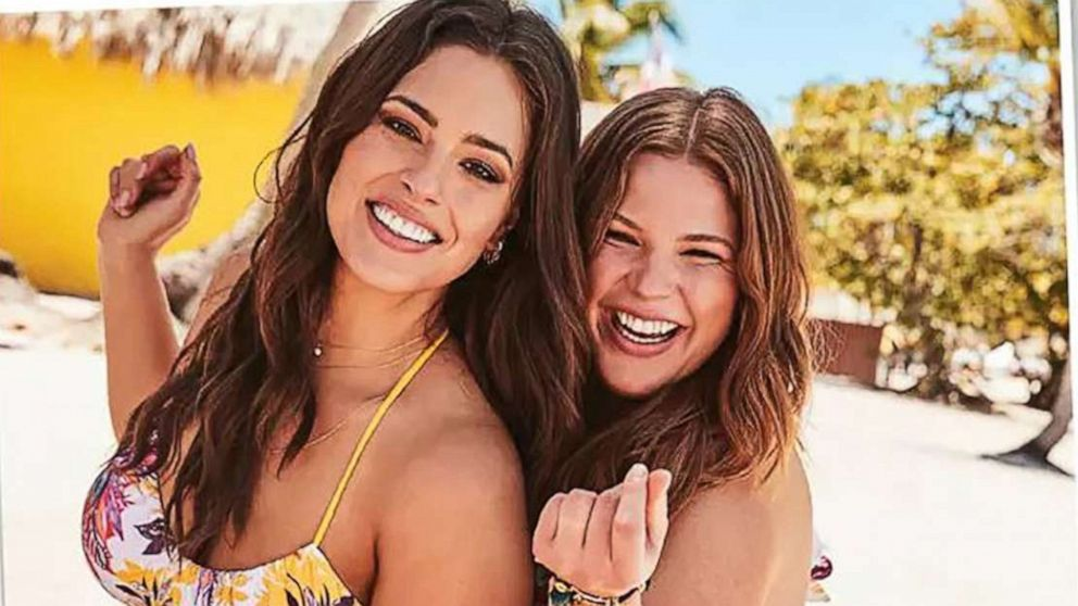 a1826f11546 ashley graham and sister abigail star in new swimsuit campaign together