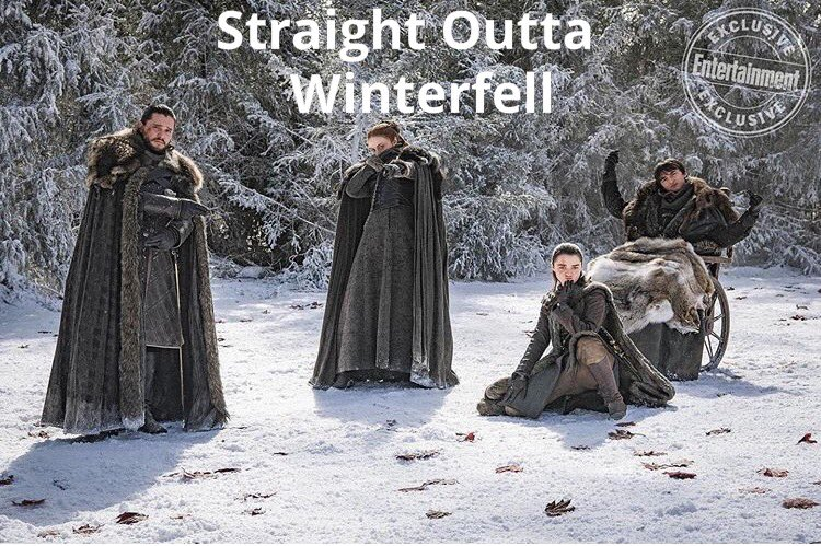 Official from @EW 🤣@GameOfThrones very own house stark album dropping 12/3/2020 these are some real #northernerswithattitude #NWA #HouseStark #hbo #StraightOuttaWinterfell #toohottohandle #toocoldtohold prepare yourselves https://t.co/w5iW97nn9t