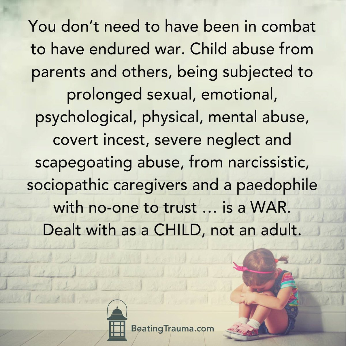 Abused Children Carry Trauma In Their >> Janine Jury On Twitter You Don T Need To Have Been In Combat To