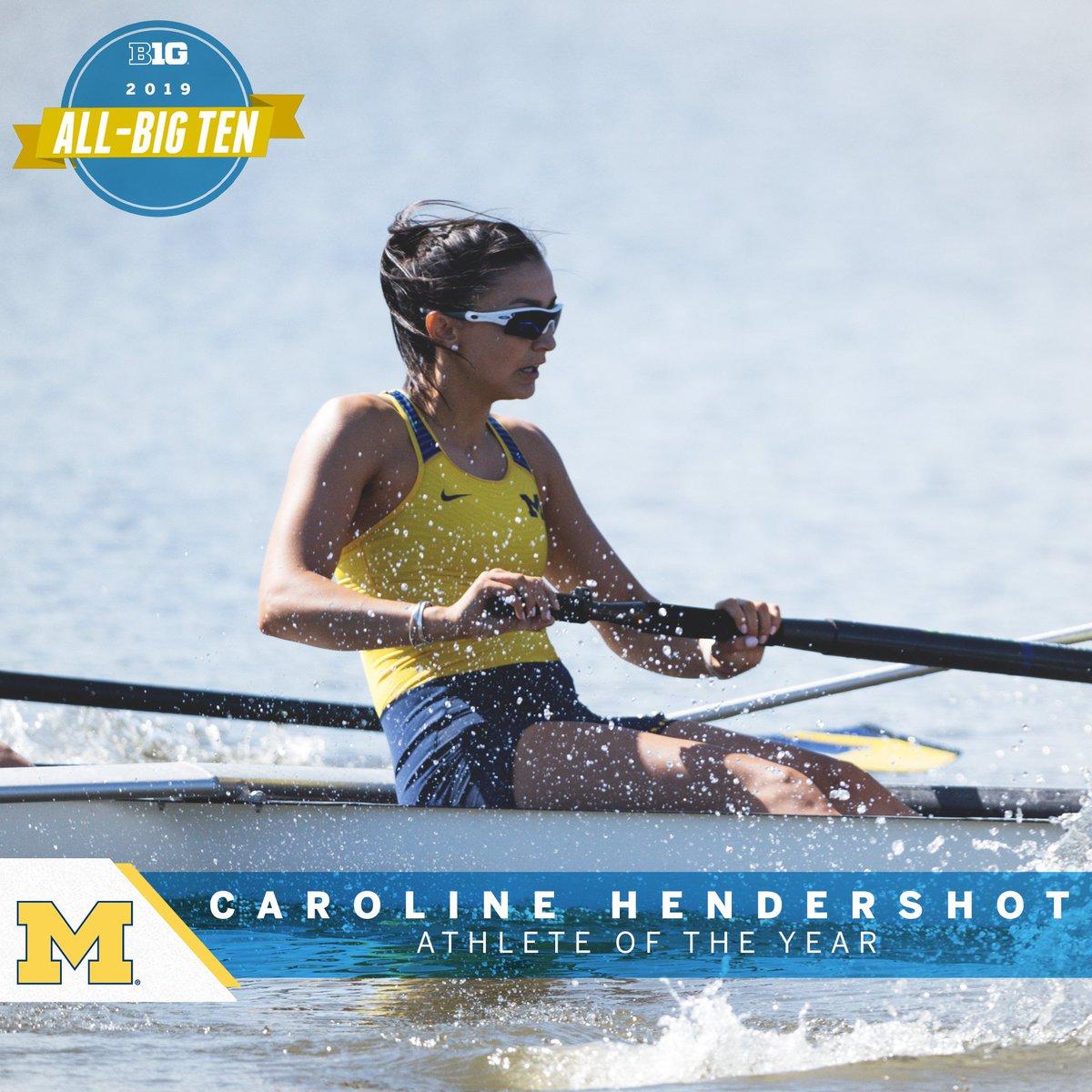 Caroline Hendershot of @umichrowing named 2019 Big Ten Rowing Athlete of the Year. #B1GRow