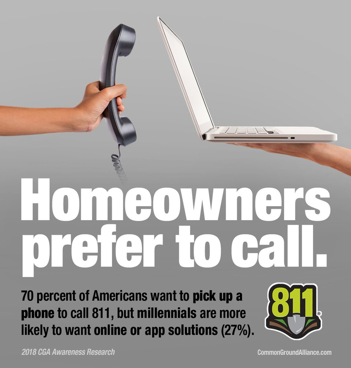 test Twitter Media - What are you waiting for? Have your underground utility lines marked by calling 811 at least three business days before you dig or excavate. #Call811 https://t.co/X90jJcXiBw