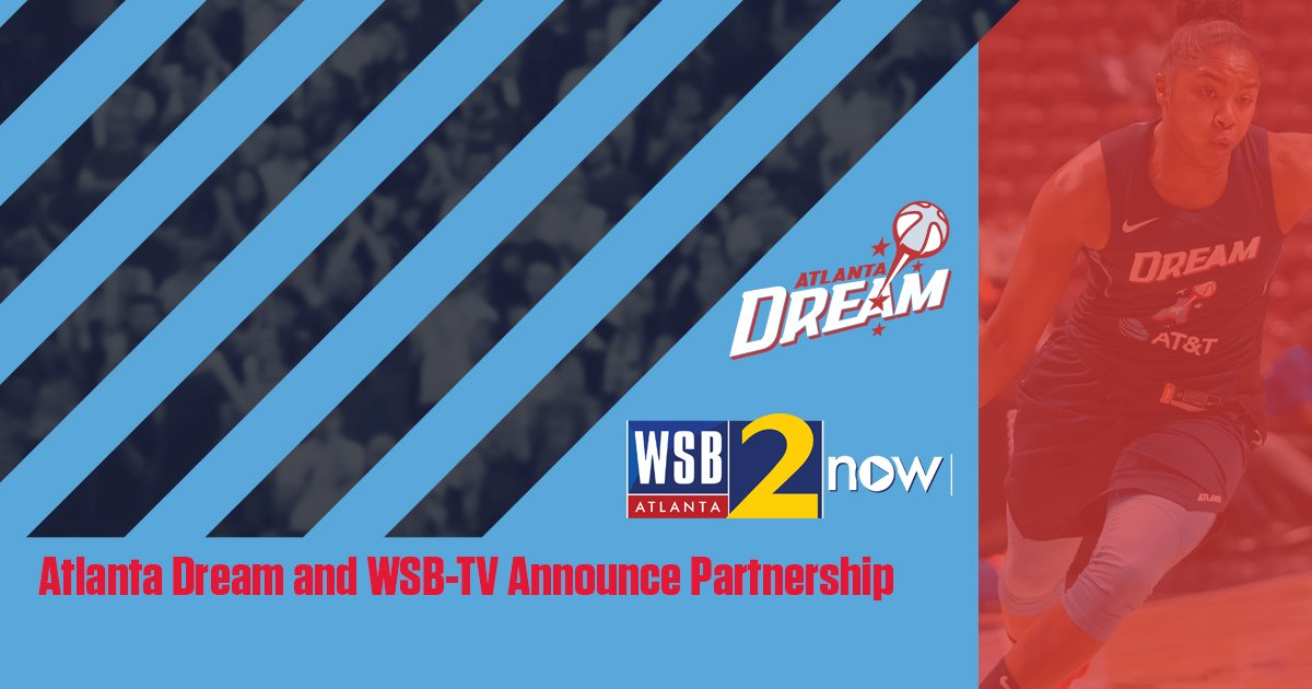 🚨BREAKING NEWS📺 Atlanta Dream and @wsbtv announce partnership for 2019 season. 1️⃣8️⃣ games will be presented by WSB-TV this season.   📰 https://dreamatl.net/2WZQ9wv  #DreamOn WSB