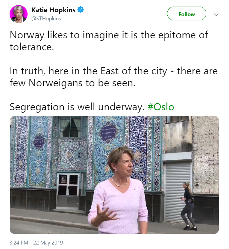 Racists love coming to regular neighborhoods in Oslo and talking like they're in some kind of war zone