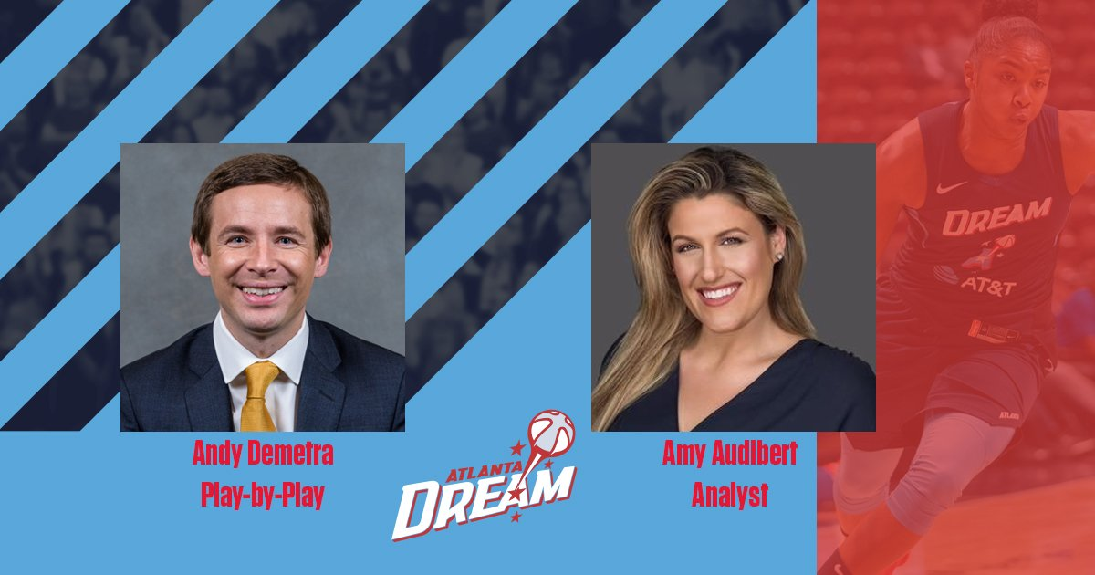 Welcome to the Dream @AndyDemetra & @AmyAudibert   We are excited for this summer!   https://dream.wnba.com/broadcasters/    #DreamOn
