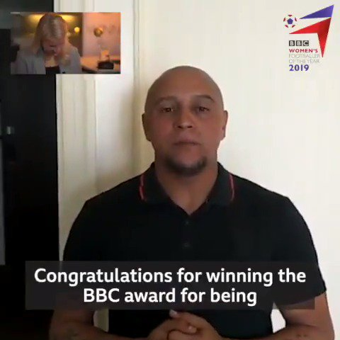 How about this for a message of congratulations... 🙌  Brazil legend @Oficial_RC3 sends a very special message to our Women's Footballer of the Year award winner, @AdaStolsmo. 🏆👏  #BBCWFOTY #ChangeTheGame