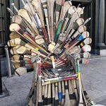Image for the Tweet beginning: An Irish Hurley Throne worth