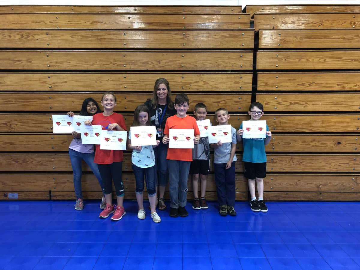 Reading and Math award winners from Mrs.Wareham's class! #TeamCIS