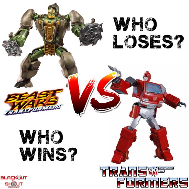 Rhinox vs Ironhide. Who wins? #transformers #toys #comics #geek #nerd #gamer #actionfigures #autobots #maximals #ironhide #rhinox #toycollector #beastwars #transformersg1