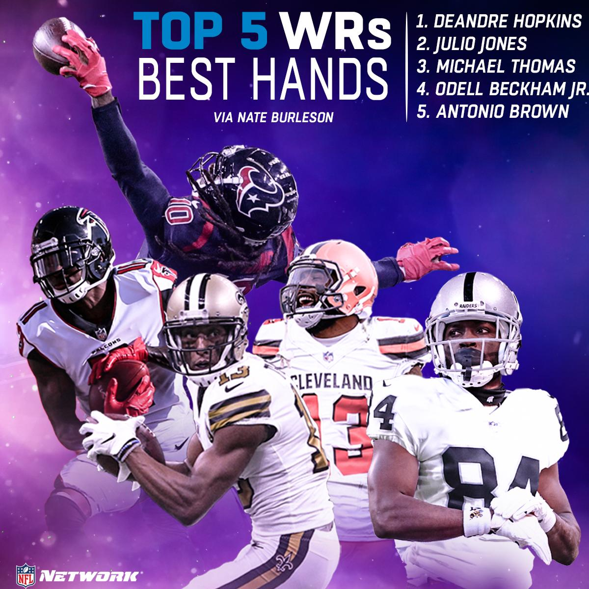 Who has the best hands in the NFL? 🙌 📺: @nateburleson // @gmfb