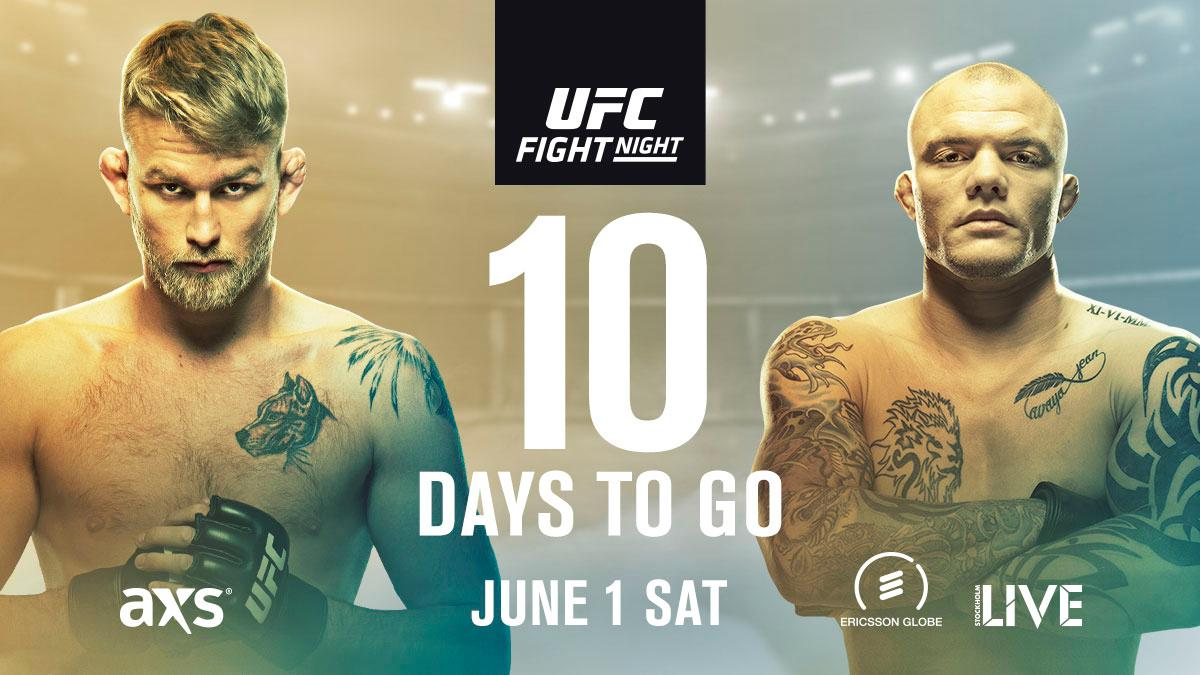 The countdown to #UFCStockholm his on!