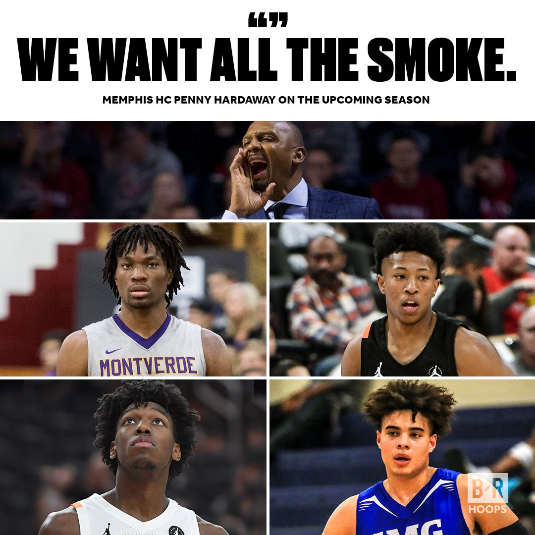 Memphis' No. 1 recruiting class is ready to go 🔵  No. 1 James Wiseman No. 14 Precious Achiuwa No. 37 Boogie Ellis No. 48 DJ Jeffries No. 56 Lester Quinones No. 98 Malcolm Dandridge No. 108 Damion Baugh  (via @brhoops)