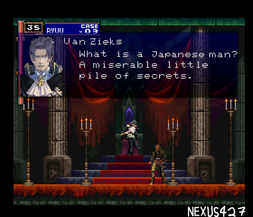 @NicoB7700  One of the discord mods, Nexus (who doesn&#39;t have twitter), made this  picture after we had a discussion about how much Barok reminds us of  Dracula, and it&#39;s some pretty damn neat pixel art so I just had to share it!!!!! <br>http://pic.twitter.com/ndWG3MySFF