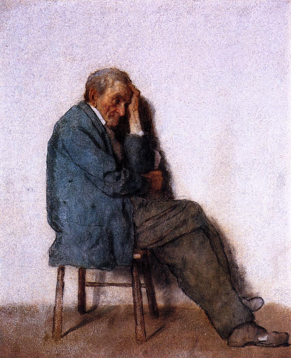 Old Man, Seated, 1855 #johnson #realism<br>http://pic.twitter.com/l1GhDRDhSQ