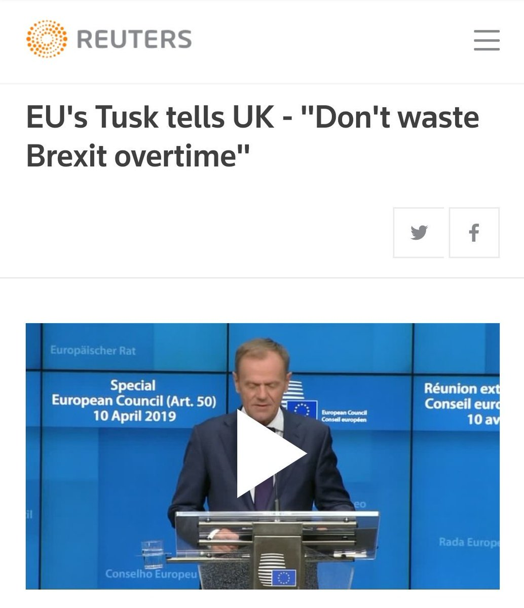 Your routine reminder that when the EU agreed to a Brexit extension, they explicitly warned against wasting time...