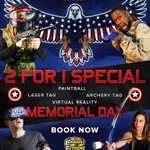 Image for the Tweet beginning: 🇺🇸⚠ Memorial Day 2-For-1 Special