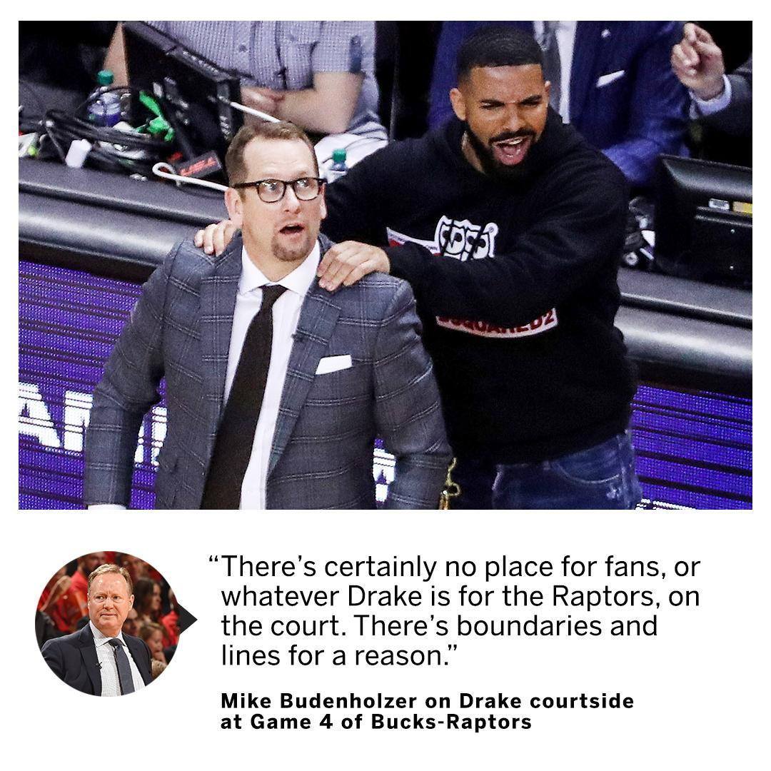Bucks head coach Mike Budenholzer didn't hold back his feelings for Drake's actions in Game 4.