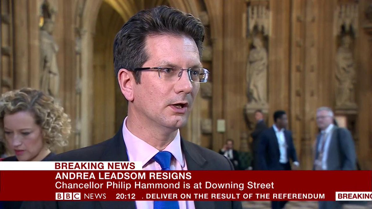 """""""This can't go on, it's not in the national interest"""" – former minister Steve Baker says the """"centre of the Conservative Party"""" has turned against Theresa May  http://bbc.in/2HMxii8"""