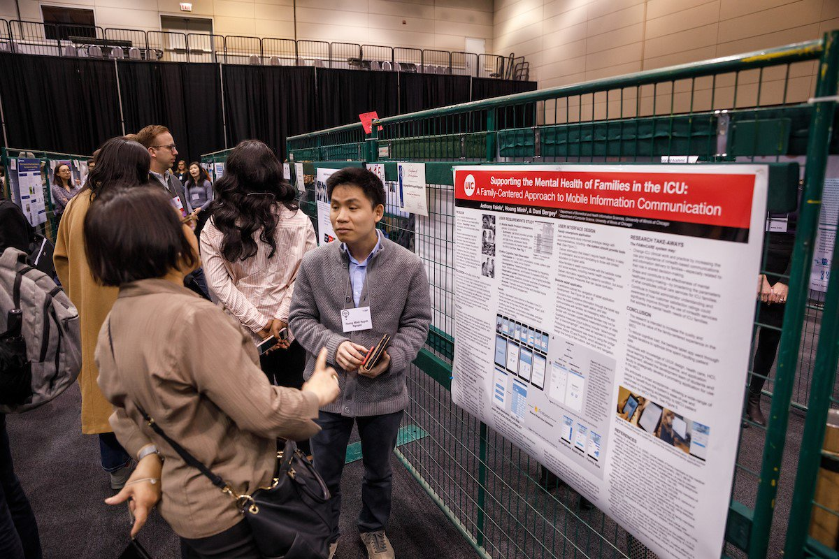 ... prize at UIC's 2019 Impact and Research Day for his work on an app to help the families of hospital patients. Read more here: https://bit.ly/2YNu3Or ...