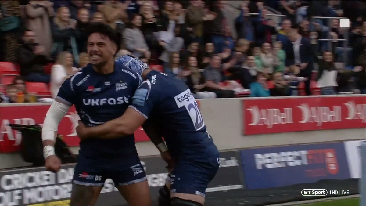 """One of the best finishes you'll ever see!""  ""Even Yoda can't levitate like that!"" 😂  When @SaleSharksRugby get a bit of space they are simply breathtaking 🔥 #RugbyTonight"