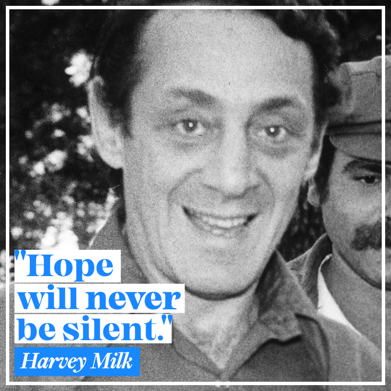 As one of the first openly LGBTQ elected officials in the United States, Harvey Milk was a trailblazer and inspiration. Let's honor his legacy by continuing to work for full equality for all. #HarveyMilkDay