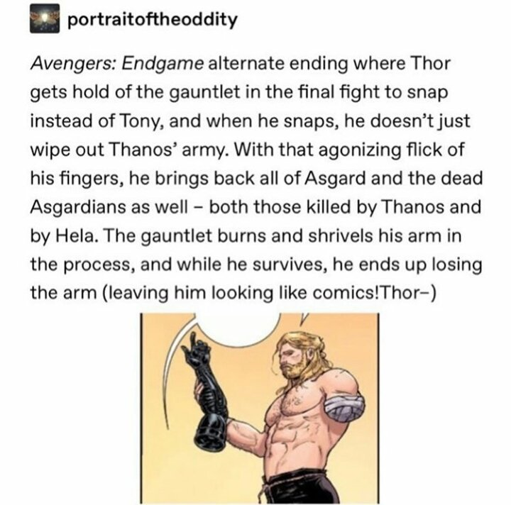 The ending to #Endgame that we deserve