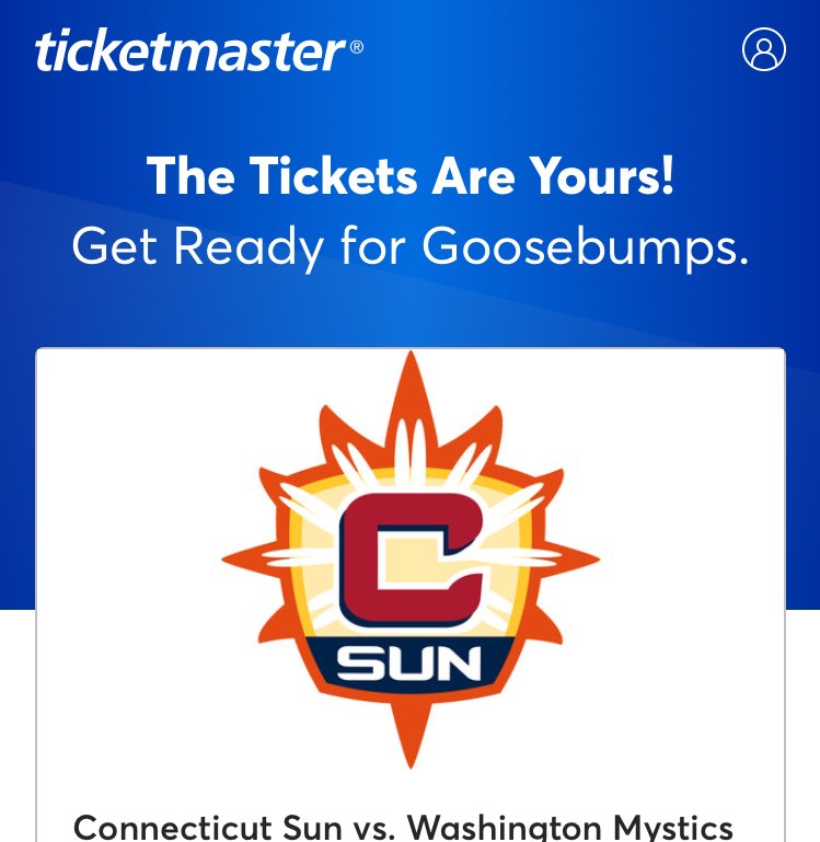 Been getting a ton of @ConnecticutSun digital ads lately. They worked well cause I just bought tix for their home opener on Saturday with @emilyymiles. Excited for my first Sun game! #WNBA #ReadyForGoosebumps