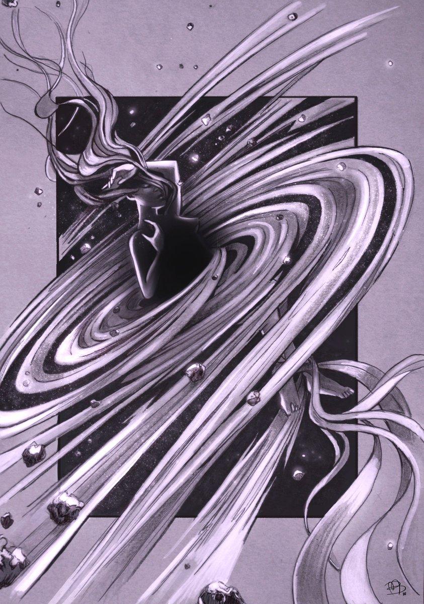 I&#39;m sharing my quasar illustration again! ^^  #illustration #drawing #art #scifi #fantasy #cosmos #stars #universe #ilustracion #dibujo #ArtistOnTwitter<br>http://pic.twitter.com/R4tpN8TswW