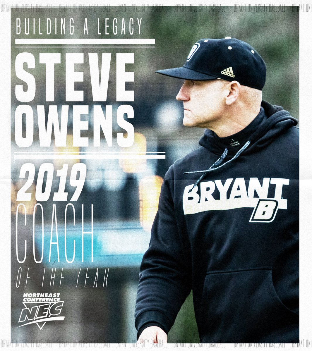 Congrats to @steveowens30 on being named the NEC Coach of the Year.   He's won the award more than any other coach in league history.   #TCD