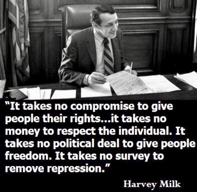 Happy Birthday Harvey Milk.