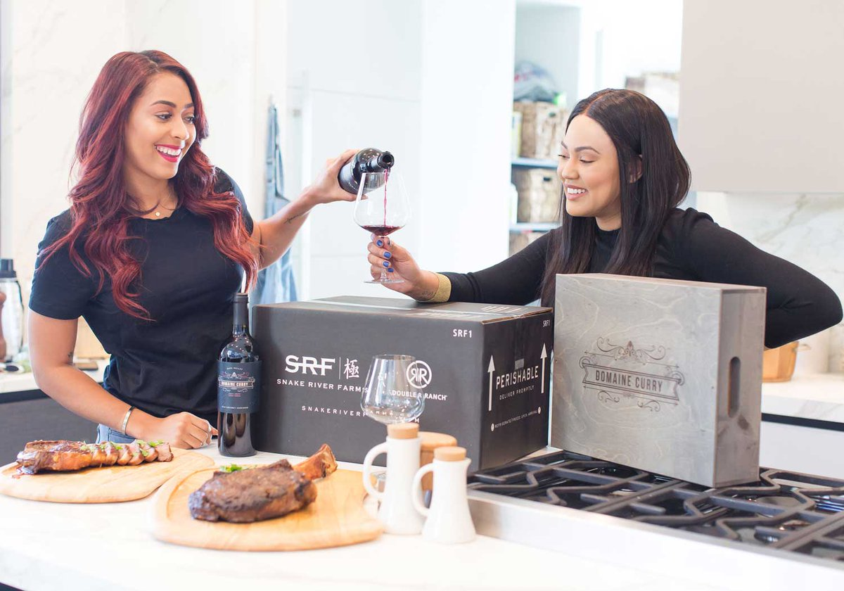 We're excited to partner with @ayeshacurry and @SydelCurryLee for a spectacular food & wine pairing: Domaine Curry Cabernet and our American Wagyu steaks. http://ow.ly/fBOI50umZfi