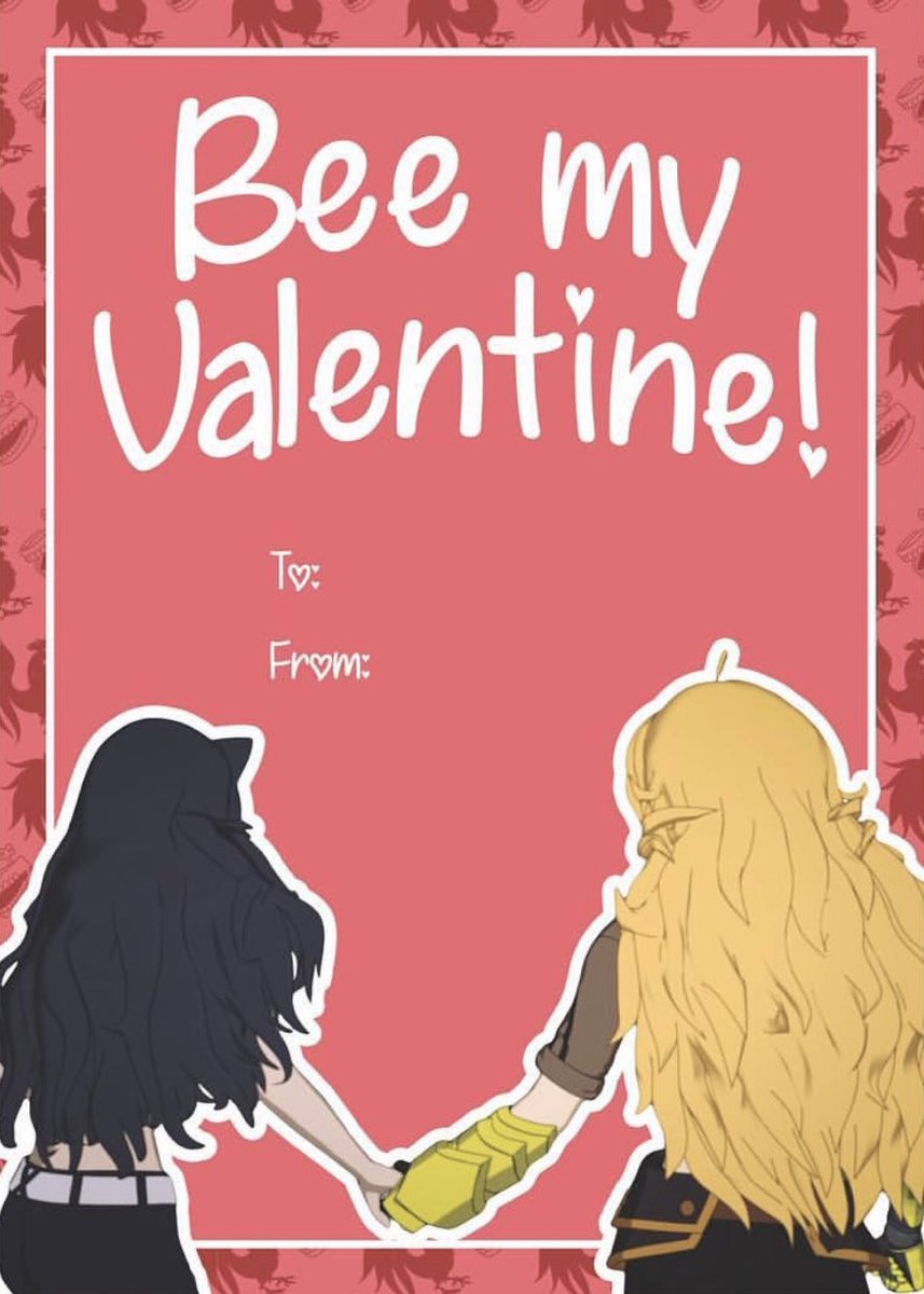 Remember when Rooster Teeth themselves confirmed Bumbleby is canon by releasing only one RWBY Valentine&#39;s Day card? I sure do <br>http://pic.twitter.com/dbMowlnm4z