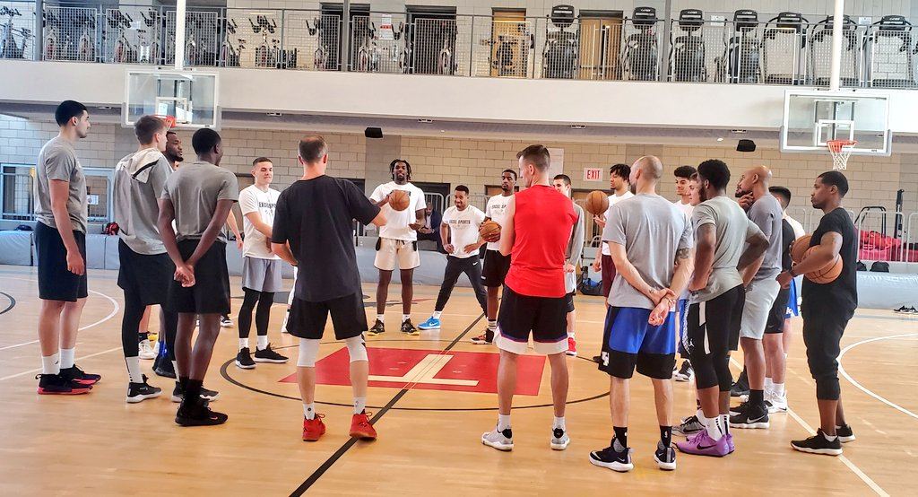 Excel Sports agency invited us to watch their guys prepare for their Pro Day tomorrow in NYC. Goga Bitadze, Tyler Herro, Henri Drell, Naz Reid, Lou King, Justin Wright-Foreman and Kyle Guy the headliners.
