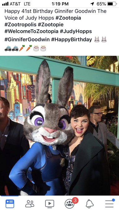 Wow. For being 41, Ginnifer Goodwin still looks really young.  Happy Birthday, Ms. Hopps!!!