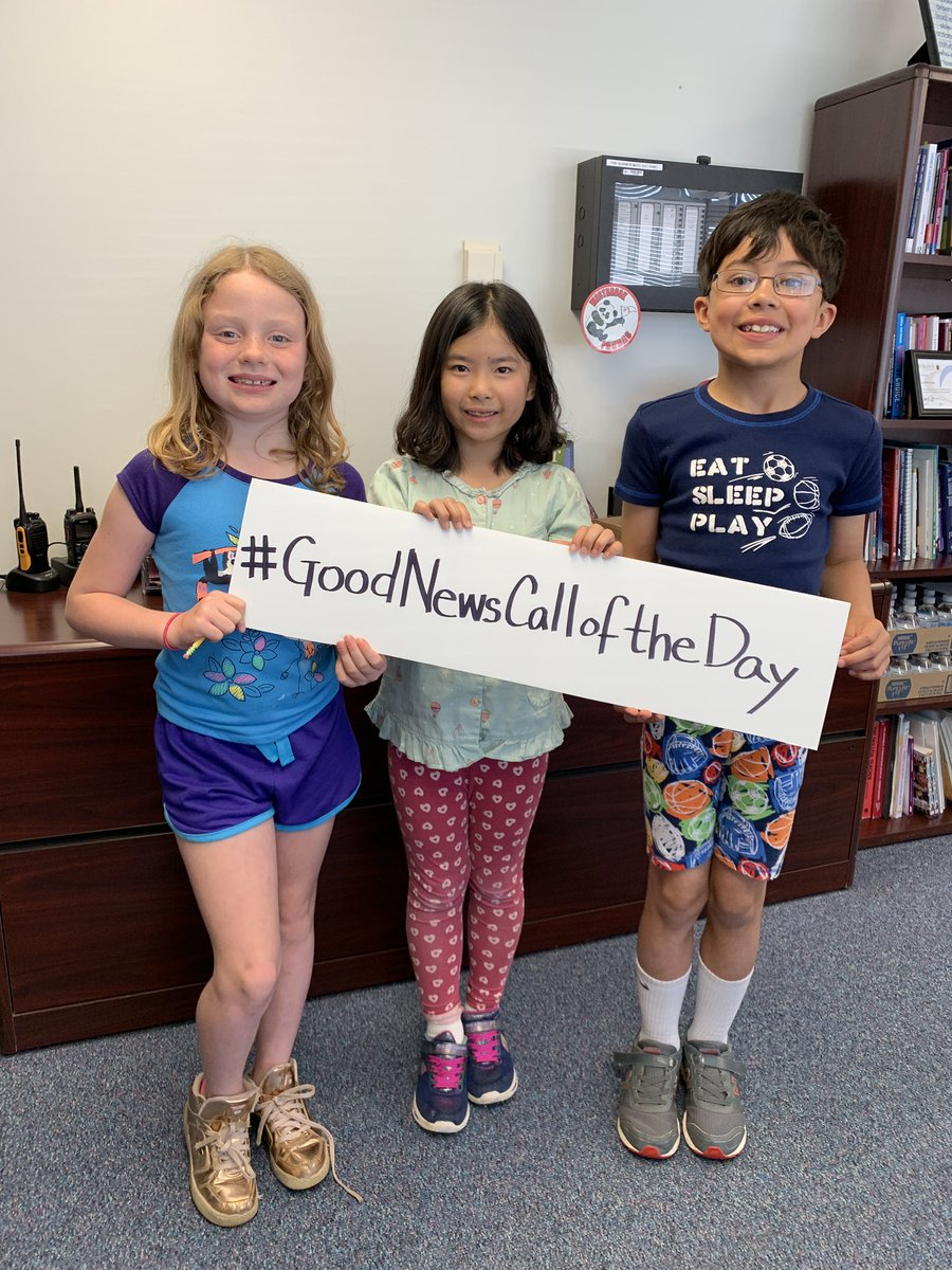 Celebrating our friends for being great role models and having fun calling parents from the principal's office to share the good news! #WBPandas #WeAreD34 ❤️🐼☎️ #GoodNewsCallOfTheDay