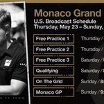 Almost time for the #MonacoGP 🇲🇨💪  Here's where to catch all the sessions live on 🇺🇸📺